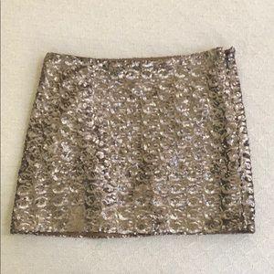 Dresses & Skirts - NWOT Body Con Golden Copper Sequin Mini Skirt